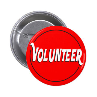 Volunteer Badge Custom Color 2 Inch Round Button