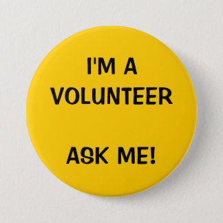 VOLUNTEER BUTTONS PINS | YELLOW
