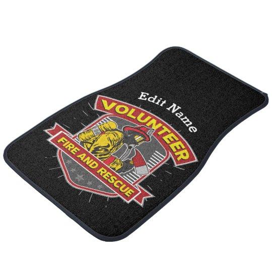 Volunteer Fire and Rescue Car Floor Carpet