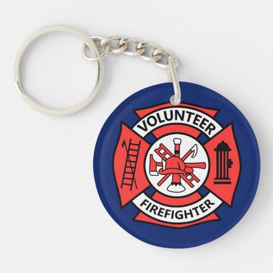 Volunteer Fire Fighter Keychain