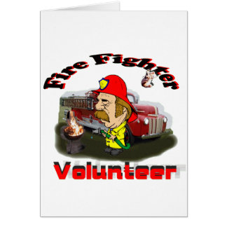 Volunteer Fire Fighters Card