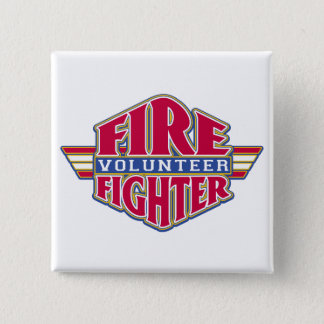 Volunteer Firefighter 2 Inch Square Button