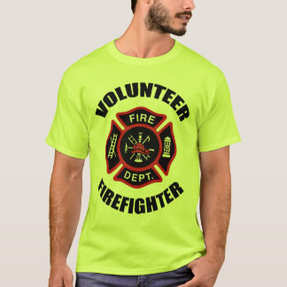 Volunteer Firefighter Badge T-Shirt