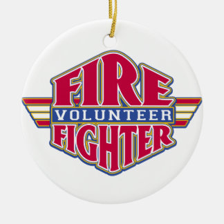 Volunteer Firefighter Ceramic Ornament