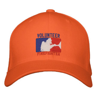 Volunteer Firefighter Custom Embroidery Embroidered Baseball Caps