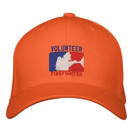 Volunteer Firefighter Custom Embroidery Baseball Cap