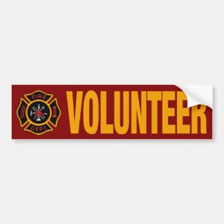 Volunteer Firefighter Fire Engine Red Bumper Sticker