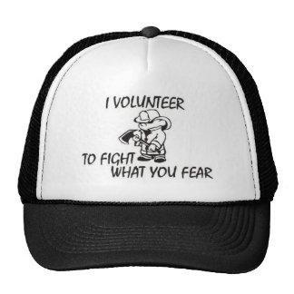 Volunteer Firefighter Mesh Hats