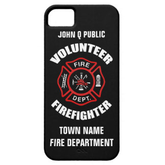 Volunteer Firefighter Name Template iPhone 5 Case