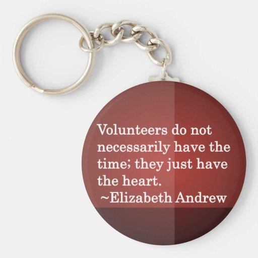 Volunteer Heart Key Chains