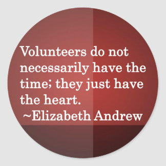 Volunteer Heart Round Stickers