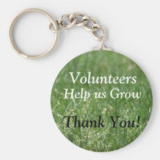 Volunteer Key Ring Basic Round Button Keychain