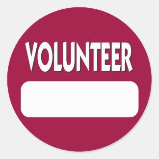Volunteer Name Tag Badge
