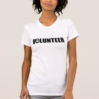 Volunteer (paw print) Ladies Scoop Neck T-Shirt