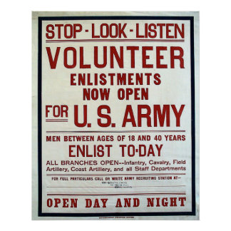 Volunteer - US Army Poster