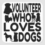 Volunteer Who Loves Dogs Stickers