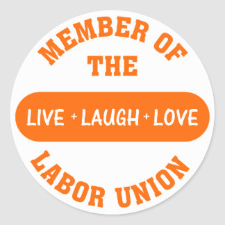 Volunteering to help others is a labor of love round sticker