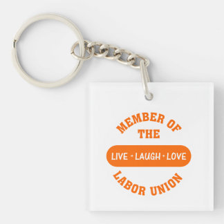 Volunteering to help others is a labour of love Single-Sided square acrylic keychain