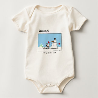 Volunteers always lend a hand! baby bodysuit