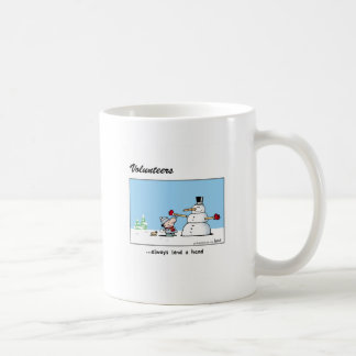 Volunteers always lend a hand! classic white coffee mug
