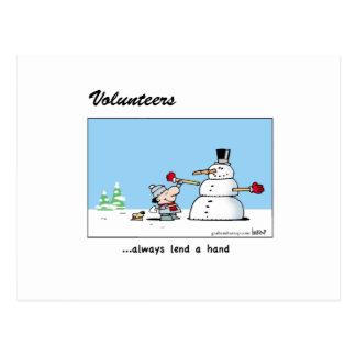 Volunteers always lend a hand! postcard