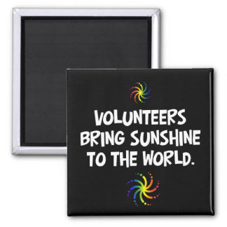 Volunteers bring sunshine to the world square magnet