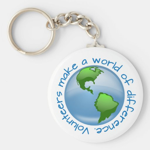 Volunteers Make a World of Difference Key Chain