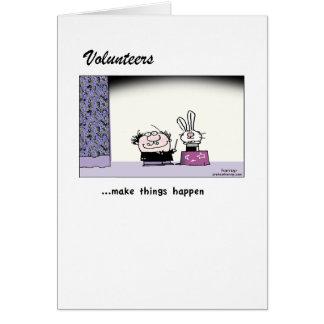 Volunteers Make Magic Happen! Greeting Card
