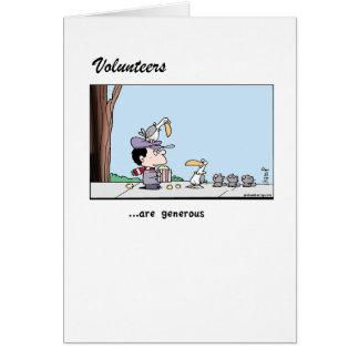 Volunteers - their generosity - greeting card