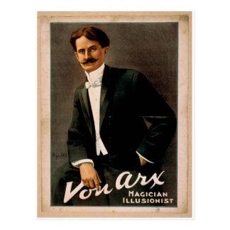 Von Arx, 'Magician Illusionist' Retro Theater Postcard