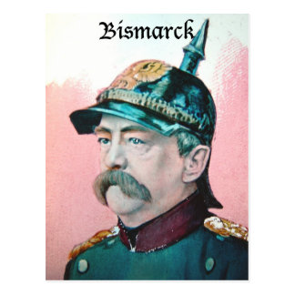 Von Bismarck with caption (public domain) Postcard