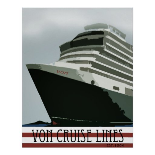 von cruise lines poster