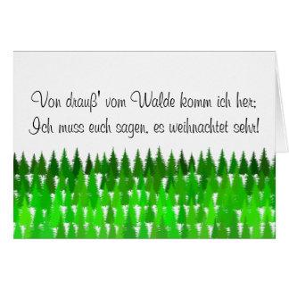 Von draus vom Walde komm ich her (Nikolaus Tag) Card