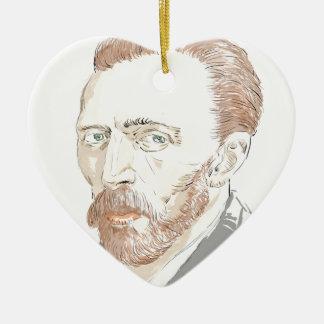 Von Gogh Ceramic Heart Ornament