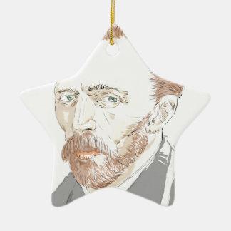 Von Gogh Ceramic Star Ornament