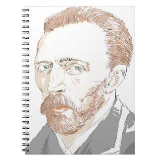 Von Gogh Spiral Notebook