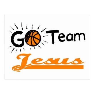 Vont le chrétien de Jésus d'équipe Carte Postale