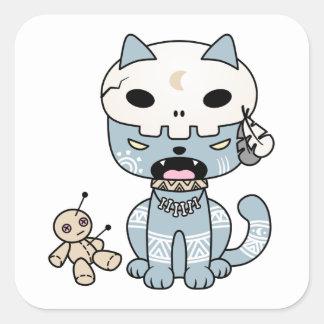 Voodoo Cat Square Sticker