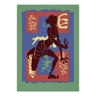 Voodoo Dancer After Matisse Poster