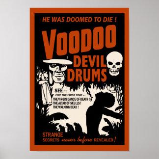 Voodoo Devil Drums - Man Poster