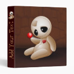 Voodoo Doll Cartoon in Love Binder