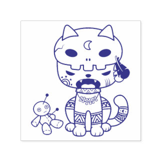 Voodoo Doll Cat Self-inking Stamp