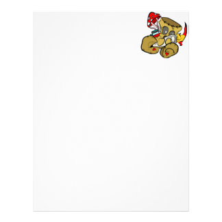 Voodoo Doll Holding Paintbrush in Red Letterhead