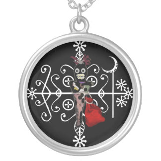 Voodoo Doll Magick Silver Plated Necklace