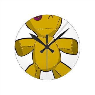 Voodoo Doll Round Clock