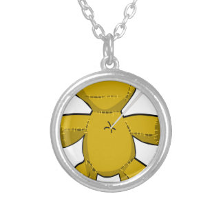 Voodoo Doll Silver Plated Necklace