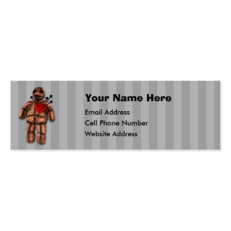 VooDoo Doll Skinny Profile Card Pack Of Skinny Business Cards