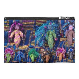 Voodoo Dolls on EelKat's Antique Blue Kente Travel Accessory Bag