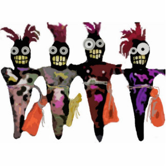 Voodoo Dolls Standing Photo Sculpture