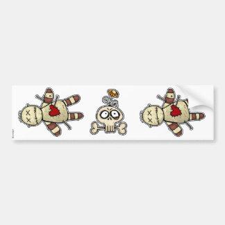 voodoo dolly and skull scrapbooking sticker bumper sticker